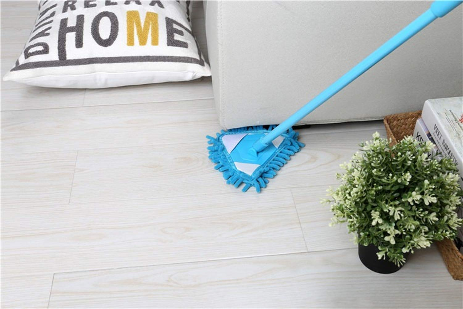 DAIDAIGZ Mini Mop Bathroom Floor Cleaning Tool Flat Lazy Mop Wall Household Cleaning Brush Chenille Mop Washing Mop Dust Brush Cleaning