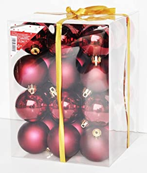 Christbaumkugeln bordeaux rot