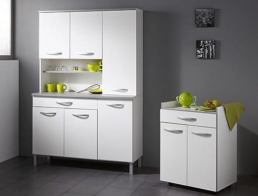 Küchenschrank seamus 24 60x82x45 cm weiß grau schrank ...
