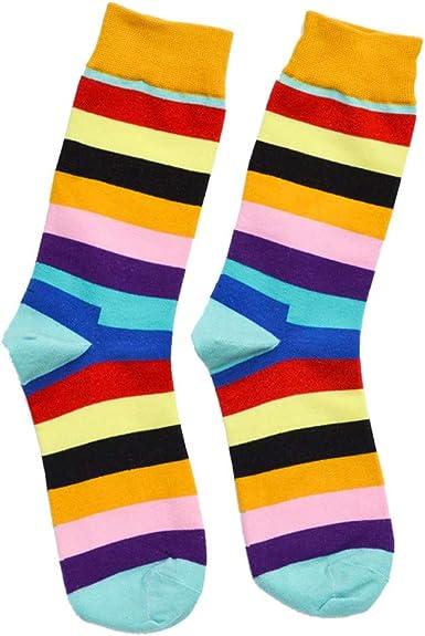 Tosonse Calcetines Casuales Para Hombres Calcetines Medianos De Algodón Calcetines Multicolores Para Mujer: Amazon.es: Ropa y accesorios
