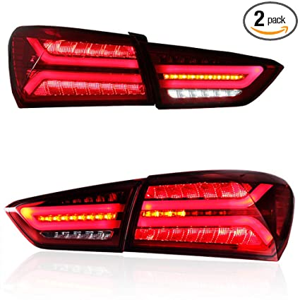 Car Tail Lights >> Amazon Com New Led Taillights Assembly For Chevrolet Malibu