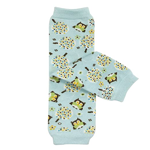 Wrapables Colorful Baby Leg Warmers, Blue Owls, One Size