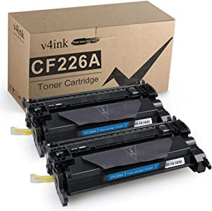 v4ink 2 Pack Compatible Toner Cartridge Replacement for HP CF226A HP 26A Toner for use with HP Laserjet Pro M402dn M402n M402dw, HP MFP M426fdw M426fdn Printer, 3100 Pages High Yield Black