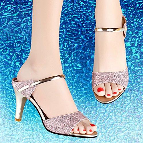 GTVERNH Damen/Damens'S/Pumps/HeelsSchuhe Die Frauen Die Die Die Im Sommer Gehen Folgt 8 Cm High Heels Ein Wort Coole Schuhe. Violet d8d6c5
