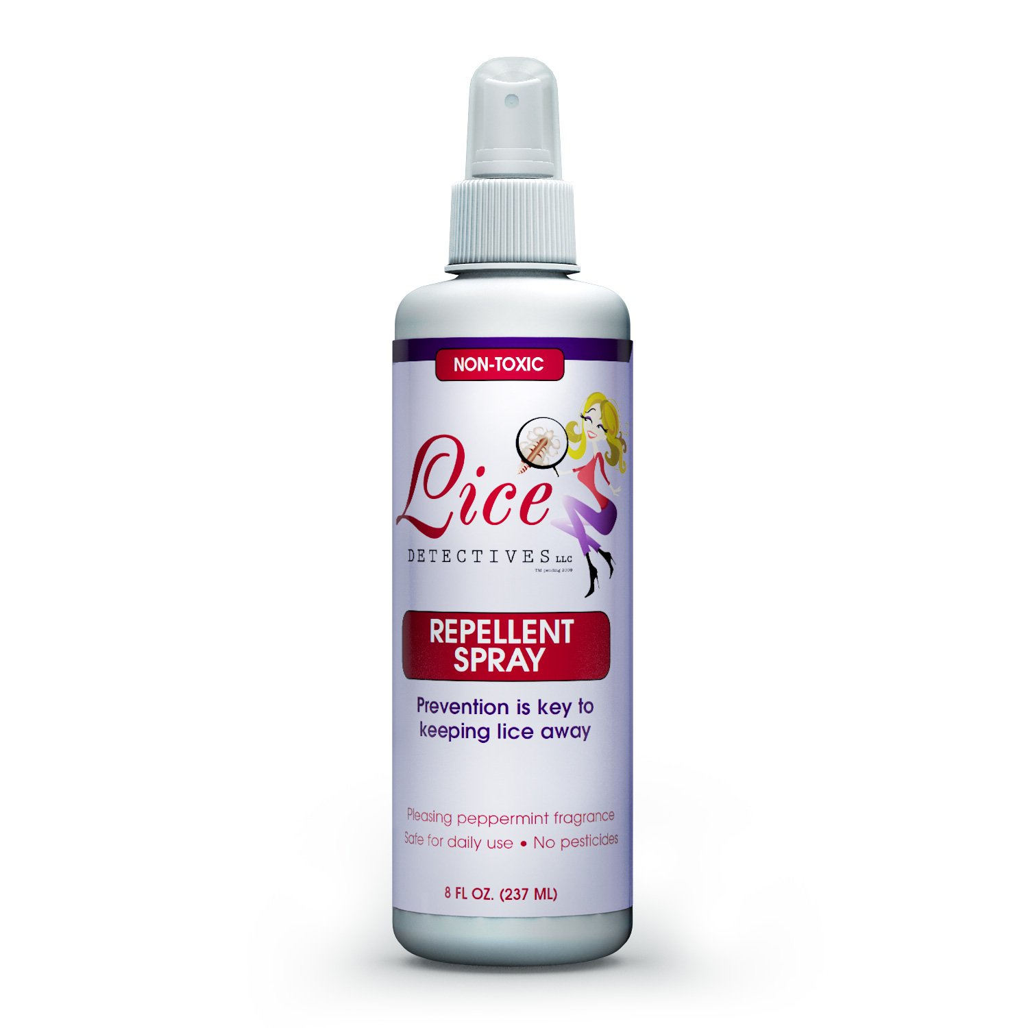 Lice Detectives Head Lice Prevention Treatment - Natural Essential Oils Repellent Spray - Daily Treatment for Kids - 8 oz (8 oz)
