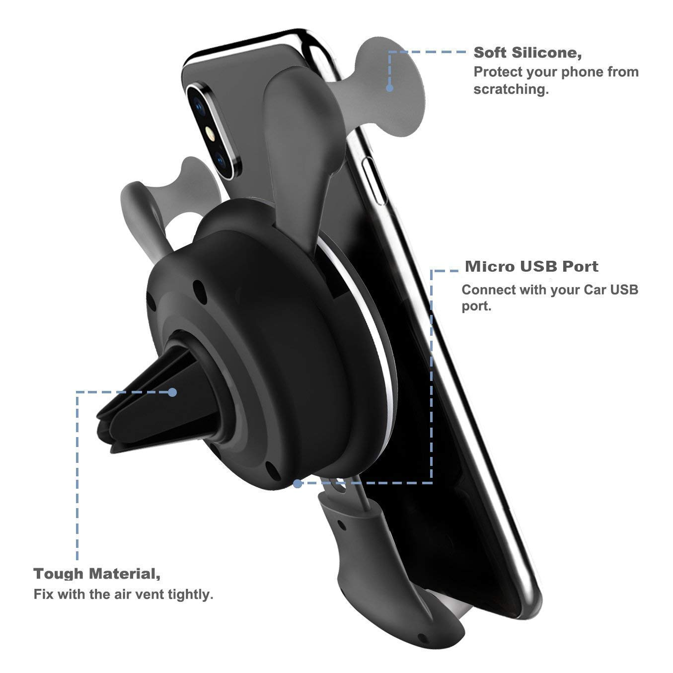 BESTHING 10W Wireless Charger, Wireless Fast Car Mount, Air Vent Phone Holder, 10W Compatible for Samsung Galaxy S9/S9+/S8/S8+/Note 8, 7.5W Compatible for iPhone Xs Max/Xs/XR/X/ 8/8 Plus by BESTHING