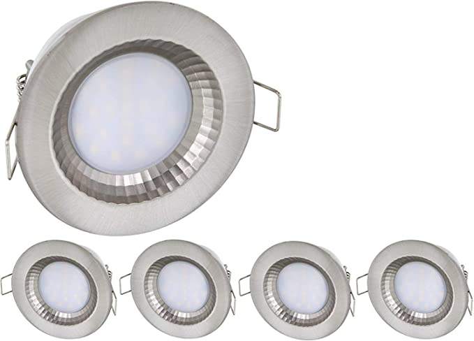 5 Pack – LED IP54 Foco 230 V – 5 W – 460 lúmenes – Aluminio ...
