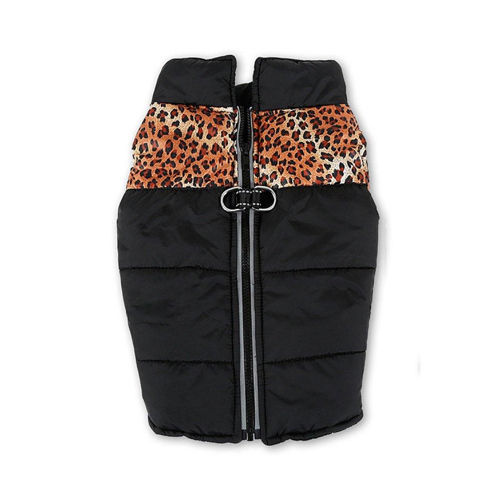 C. SmallLDFN Waterproof Dog Coat Pet Zipper Clothes Big Dog Coat Thickened Jacket Vest Winter,BL