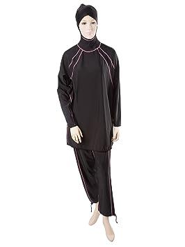 0ea4f0a73a Al-Sharifa Women s Swimsuit - Islamic Swimwear M Black Pink (Riviera)