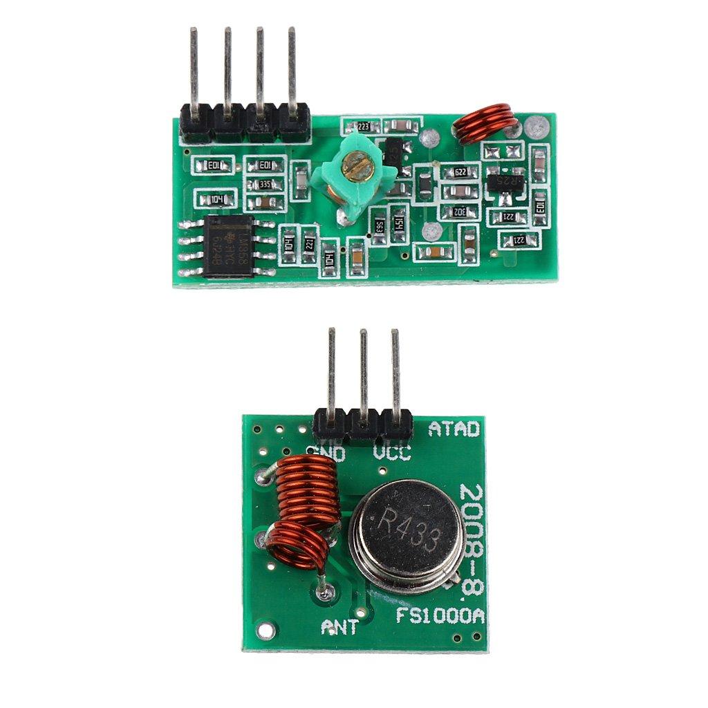 433mhz Transmisor Inalá mbrico Y Kit De Mó dulo Receptor Para 2pcs Bricolaje Arduino Generic 14012408