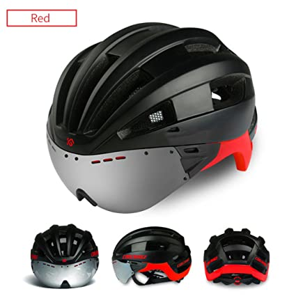 helmett Cycling Helmet Eps Windproof Lenses Integrally-Molded Bicycle Men 16 Vents Mtb Bike Casco