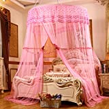 Palace Round Hanging Mosquito Nets/Fashion Floor Type Mosquito Net/Simple Double Home,Princess Wind Mosquito Net-C E
