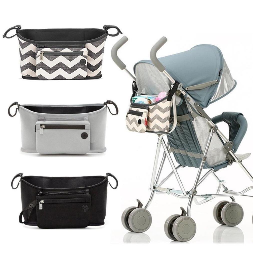 Baby Push Chair Pram Stroller Buggy Storage Pushchair Bag Diaper Phone Bottle Cup Storage Organizer (Grey) TianranRT