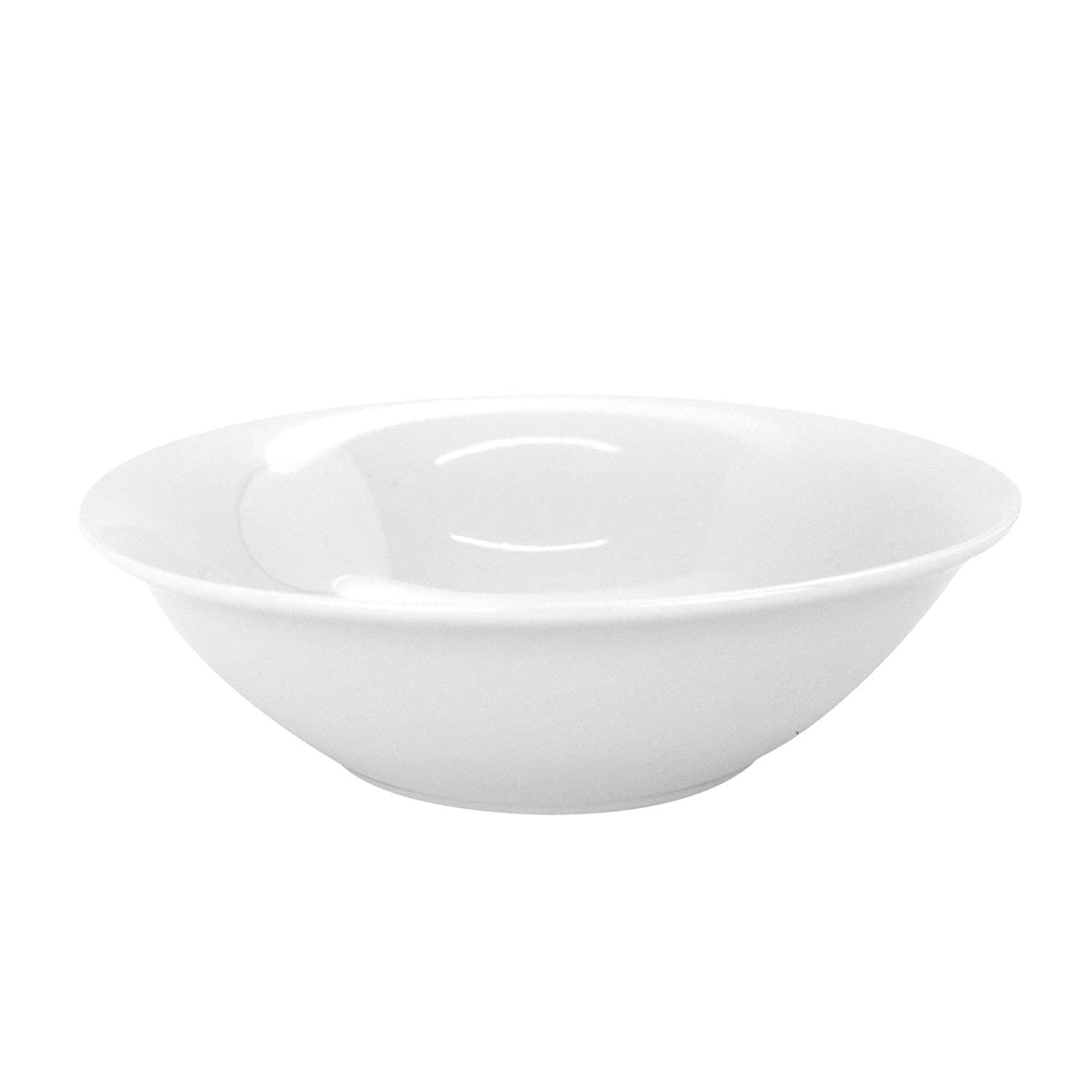 - Set of 6 7 178mm Argon Tableware White Oatmeal Cereal Breakfast Bowls