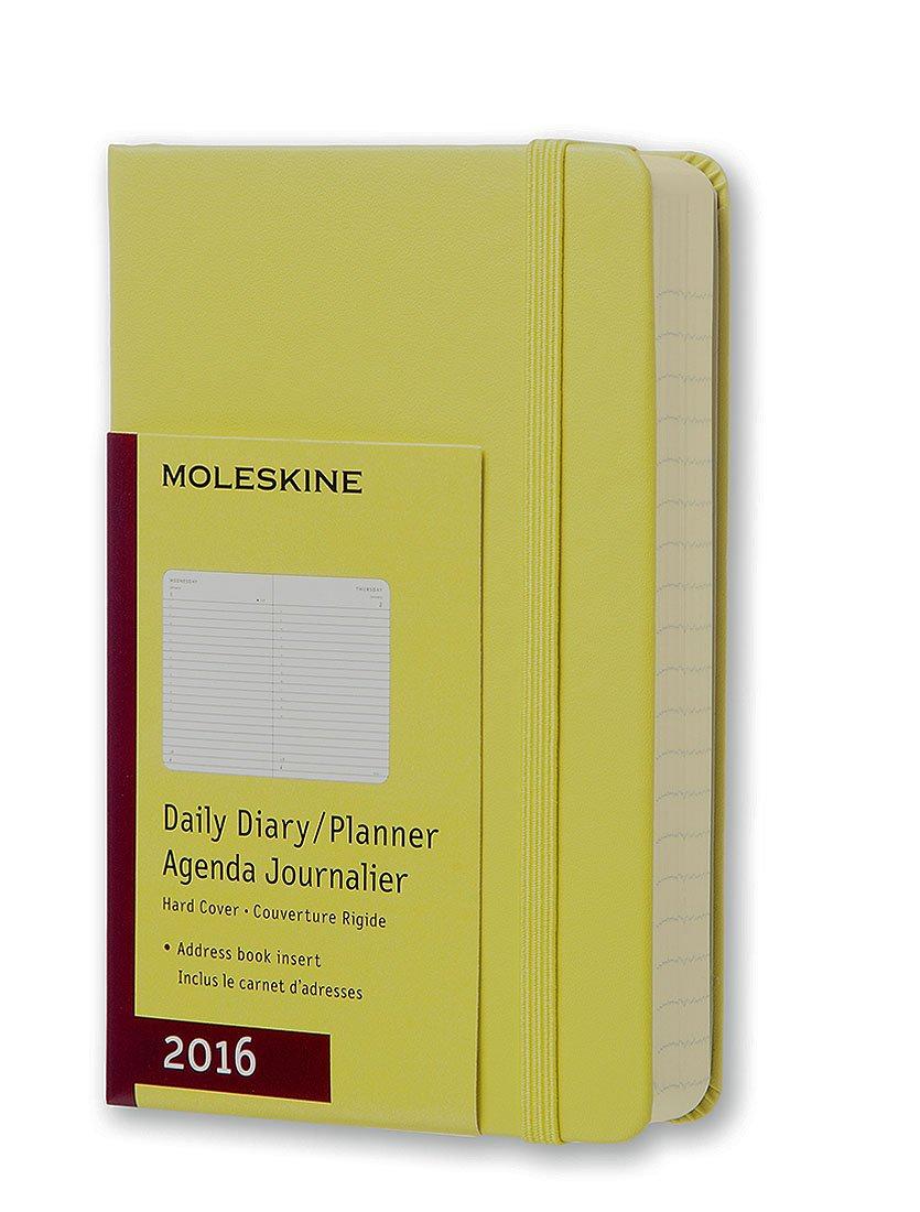 Moleskine 11417 - Agenda diaria 2016, 12 meses, tamaño bolsillo, color amarillo pajizo