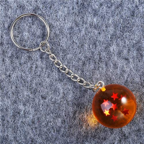 3D 1-7 Stars Cosplay Crystal Ball Key Chain Collection Toy Gift Key Ring