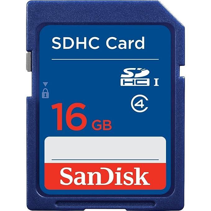 Sandisk 16GB SDHC Memoria Flash Clase 4 - Tarjeta de Memoria ...