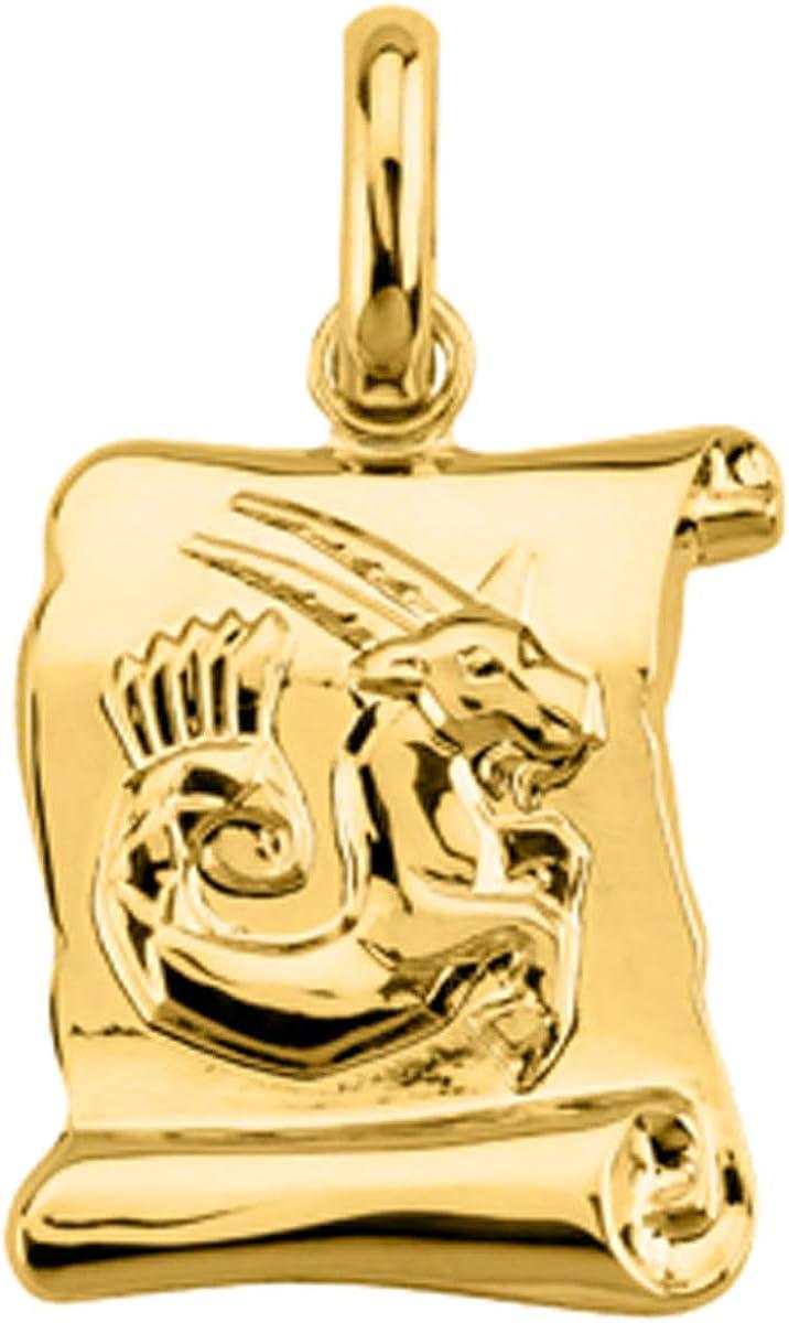 Pendant plated gold Capricorne .