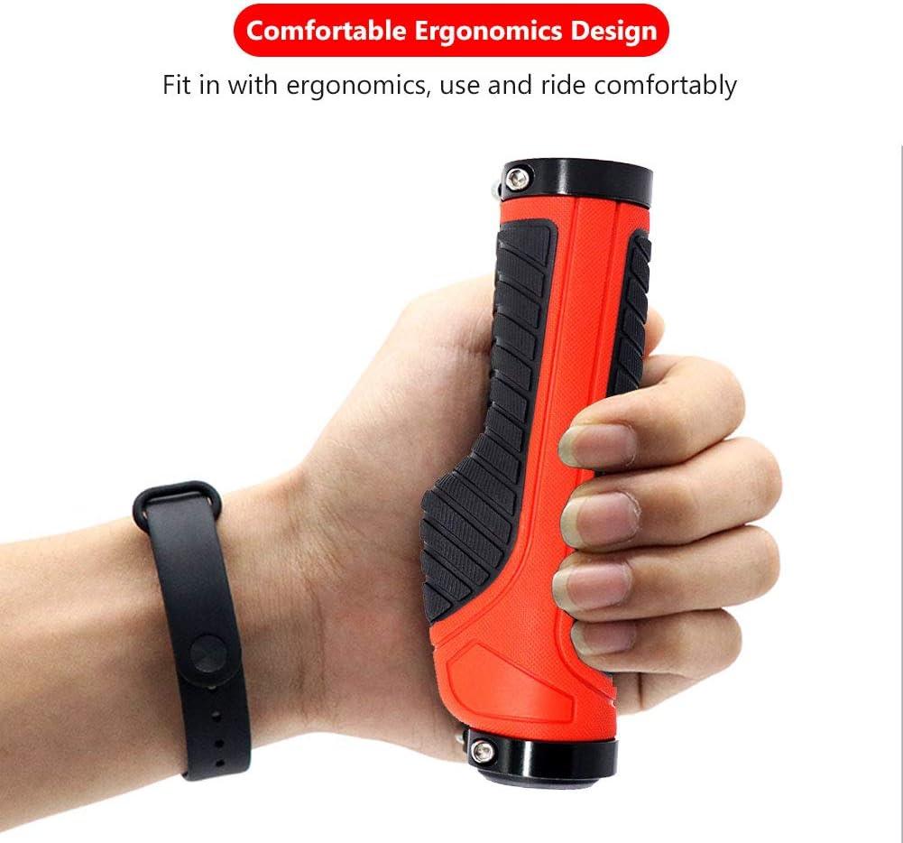 Ergonomic Bike Hand Grip for Urban Bike Mountain Bike BMX Foldable Bicycle Road Bike Non-Slip Rubber Bicycle Handle Grip with Aluminum Lock MOVIGOR Bike Handlebar Grips