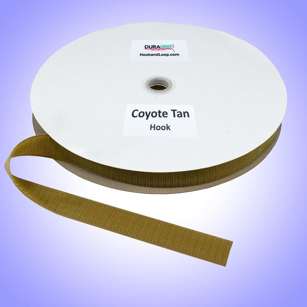 "1"" - DuraGrip Brand Sew-On Hook - Coyote Tan"