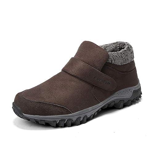 Stivali da neve invernali da uomo Scarpe da trekking Scarpe da caviglia  calde resistenti all  2f554a3e03c