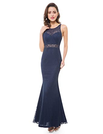 13a0de5af87c Ever-Pretty Lace Illusion Floor Length Evening Gown 07033 at Amazon Women's  Clothing store: