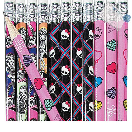 Bargain World Wood Monster High Pencils (With Sticky Notes) by Bargain World (Image #3)