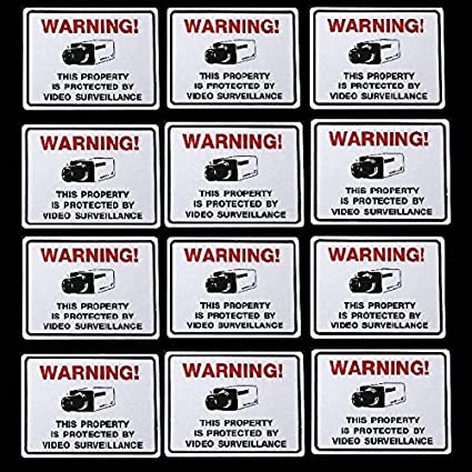 Warning Security Camera In Use Sticker Decal Sign