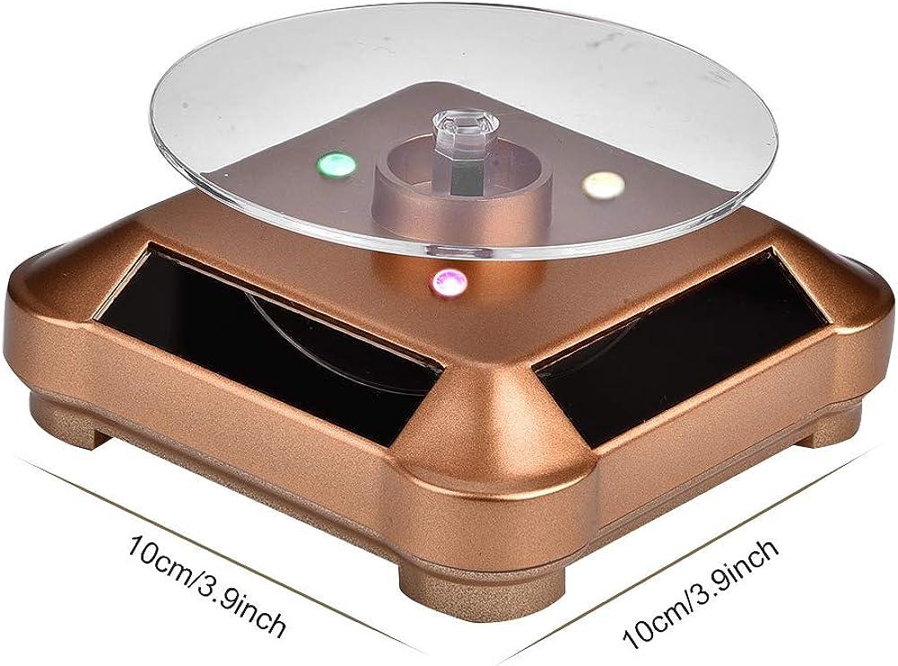 Solar Power batteriebetriebene Rotation Schmuckhalter Display Tray rotierende Basis Alucy Schmuck rotierenden Display-St/änder rotierenden Display St/änder Solar