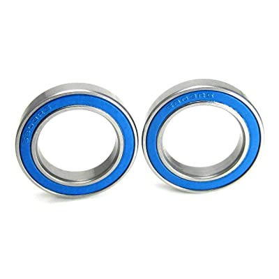 17x26x5mm Precision Ball Bearings ABEC 3 Blue Rubber Seals (2): Toys & Games