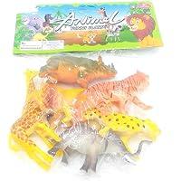 Paquete de Juguetes para Animales del zoológico, Contiene
