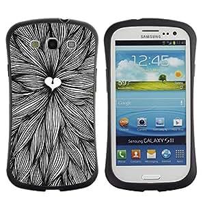 "Pulsar iFace Series Tpu silicona Carcasa Funda Case para SAMSUNG Galaxy S3 III / i9300 / i747 , Amantes de la naturaleza Art Pen Hojas Tinta"""