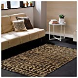 Superior Horizons Collection Area Rug, Attractive Rug with Jute Backing, Durable and Beautiful Woven Structure, Abstract Striped Rug – 8′ x 10′