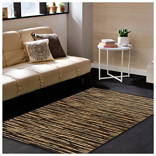 Superior Horizons Collection Area Rug, Attractive Rug with Jute Backing, Durable and Beautiful Woven Structure, Abstract Striped Rug - 2'7