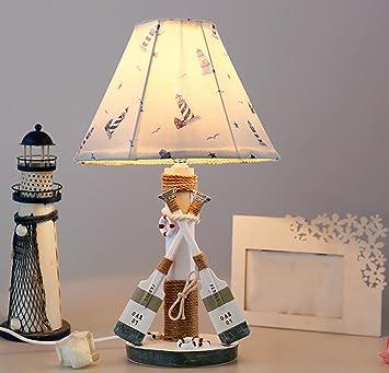 Kinder Tischlampe Harz Stoff Hanfseil Schlafzimmer Studie Dekoration  Einfache Nachtlicht Garten Stoff Hochzeit Kreative Geburtstagsgeschenk E27