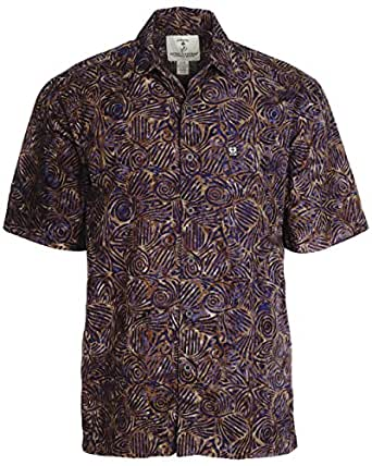 Artisan Outfitters Serenity Batik Cotton Shirt (S, Paradise Purple) A0214-41-S