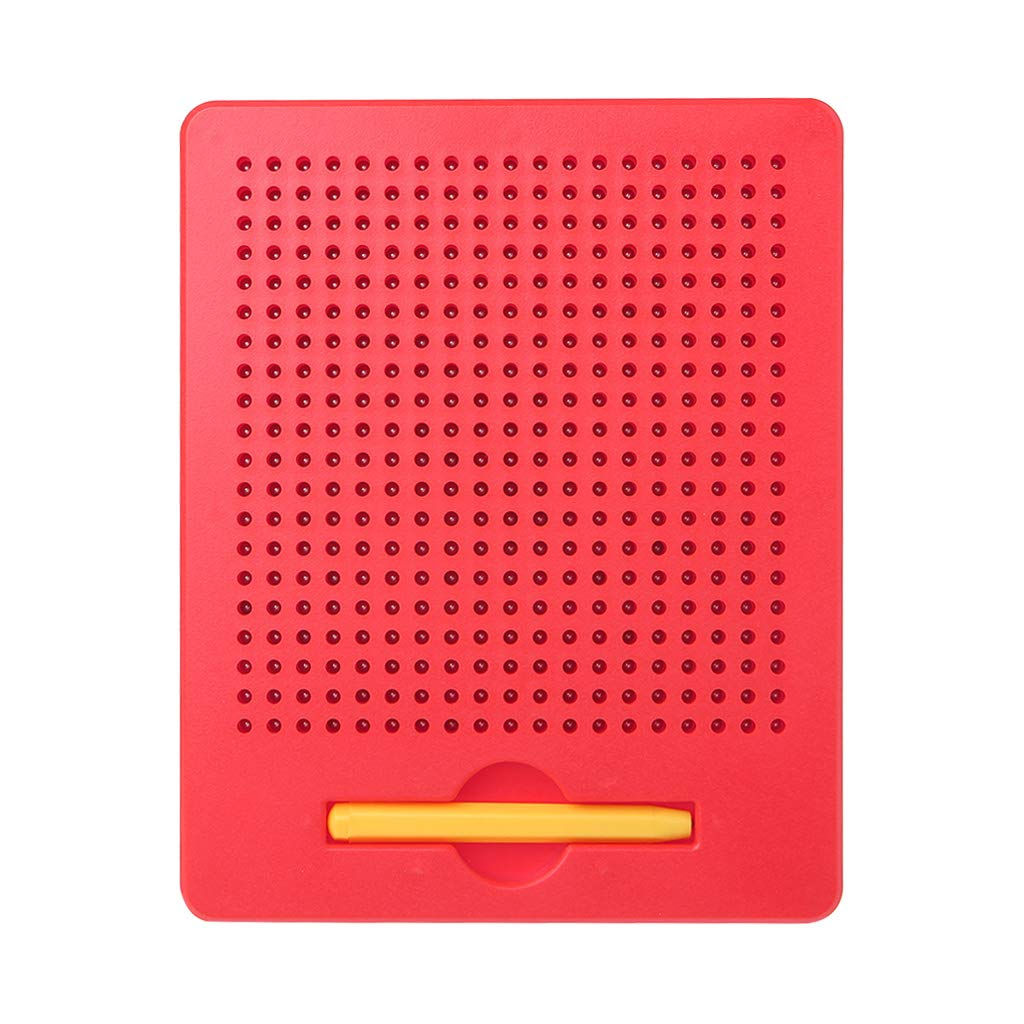 JAGENIE New Writing Drawing Board Magnetic Ball Sketch Pad Tablet Educational Kids Toy Red