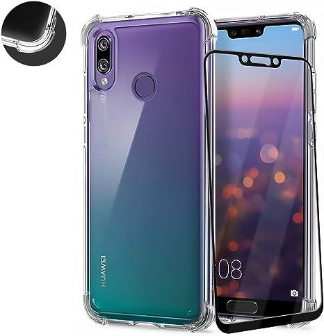 AChris Huawei P20 Lite Funda Transparente con Vidrio Templado ...