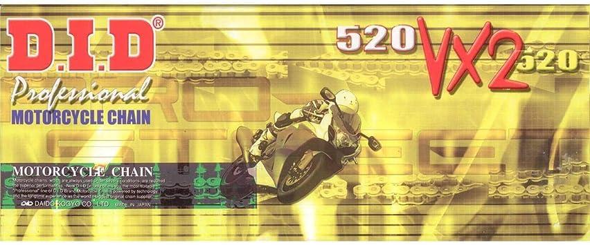Did Kette 520 Vx2 X Ring Doppelt Verstärkt Gold 116 Glieder Offen Clipschloss Auto