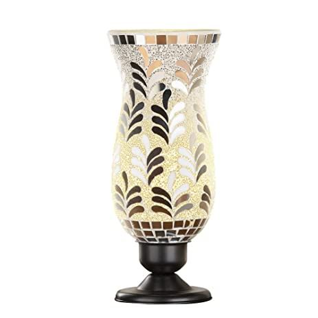 Amazon silver mosaic hurricane table lamp kitchen dining silver mosaic hurricane table lamp aloadofball Images