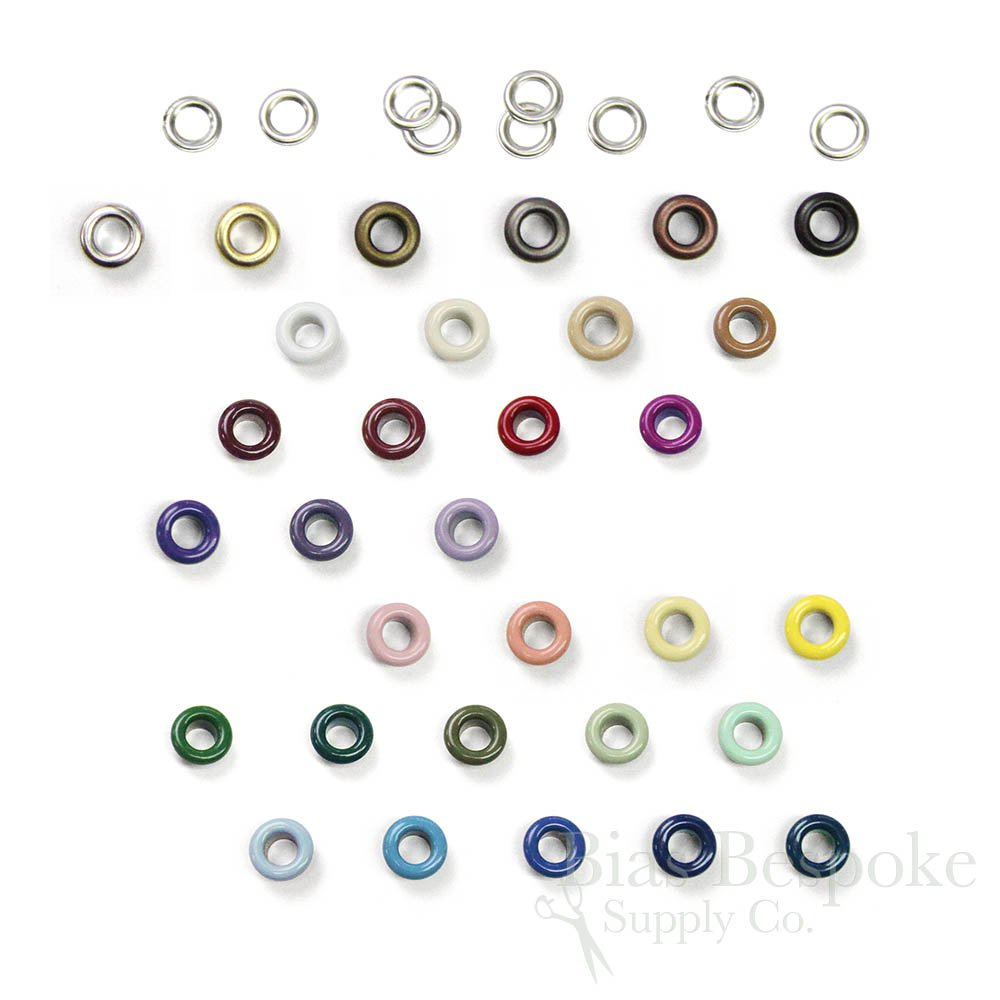 Set of 144 SOL Basic Size #00 Grommets 10mm Navy Blue