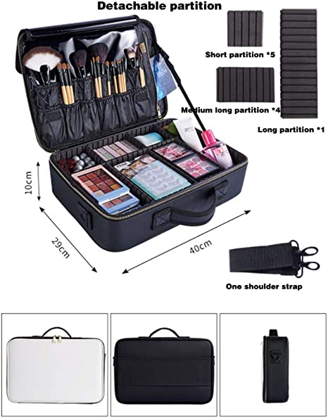 Nanjingcongji Maquillaje Estuches Portatil,Bolsa de Maquillaje Impermeable,Cosméticos portátil Estuche para Viaje Bolso, Profesional Maquillaje Case,L: Amazon.es: Hogar