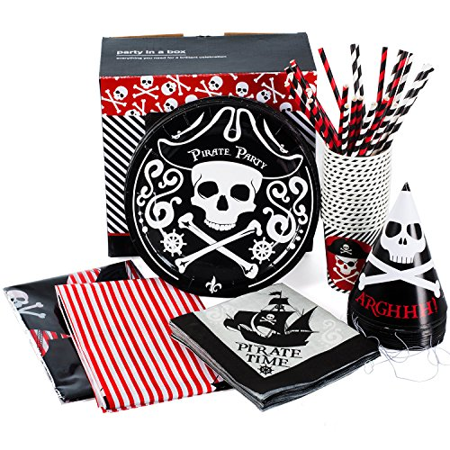 Pirate Party Supplies - Set for 16 Guests - Pirate Themed Birthday Party - Pirate Party Pack - Pirate Theme Party Supplies by Tigerdoe -