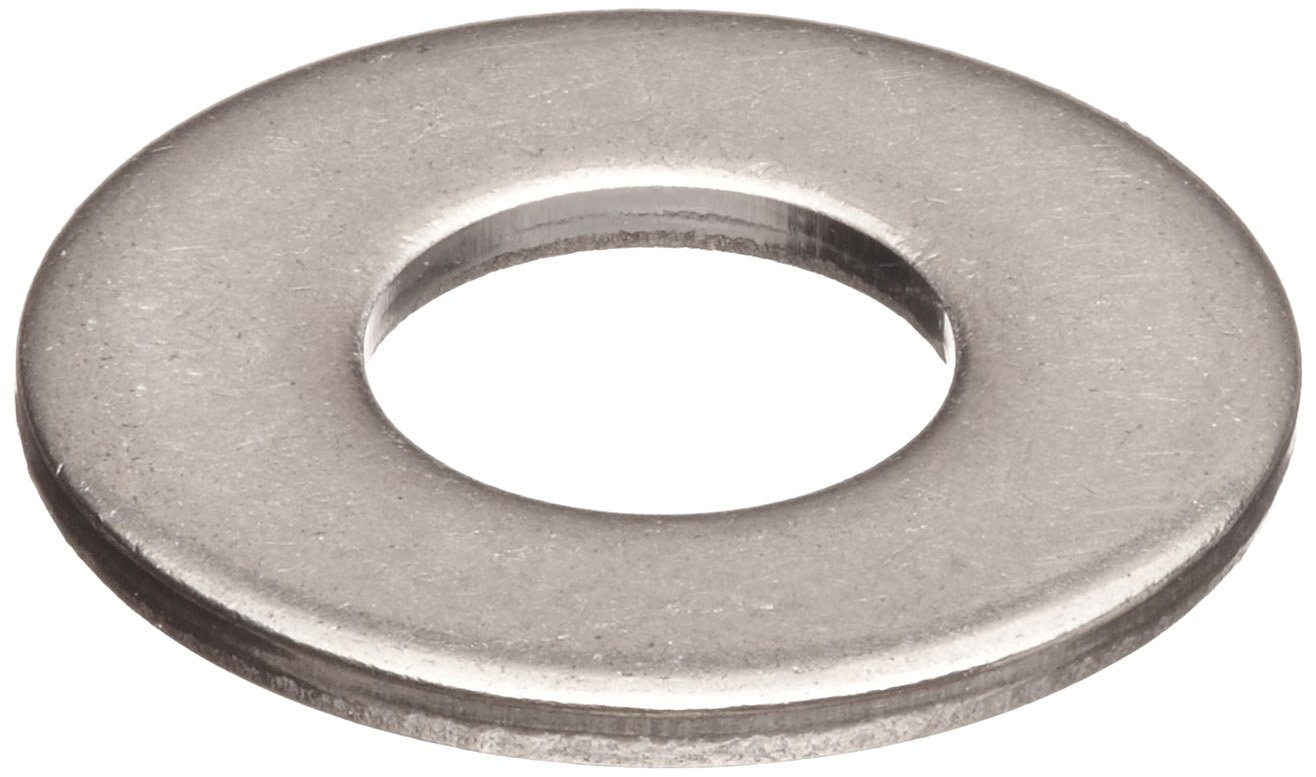 18-8 Stainless Steel Flat Washer, 7/16''-1/2'' Hole Size, 0.344'' ID, 0.688'' OD, 0.0655'' Nominal Thickness, Made in US (Pack of 25)