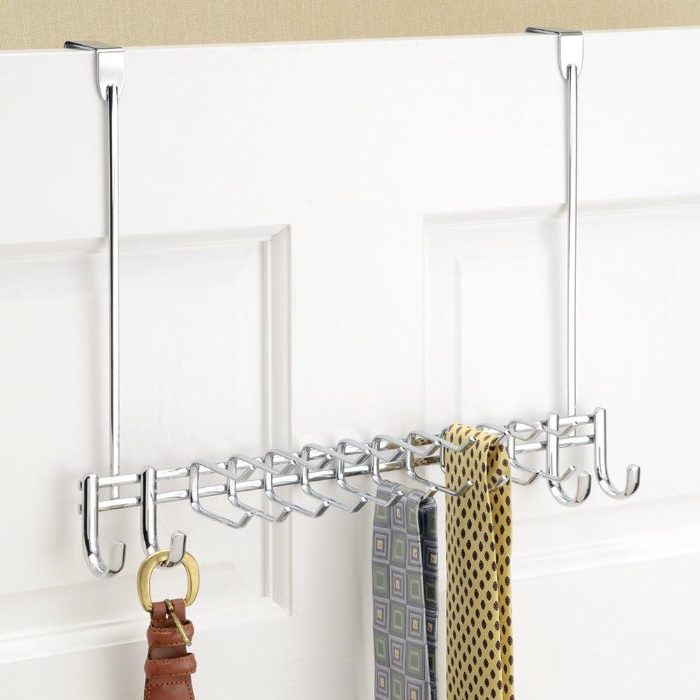 Axis Corbatero y Bastidor para Cinturones InterDesign Bronce para Colgar sobre Perfil de Puerta