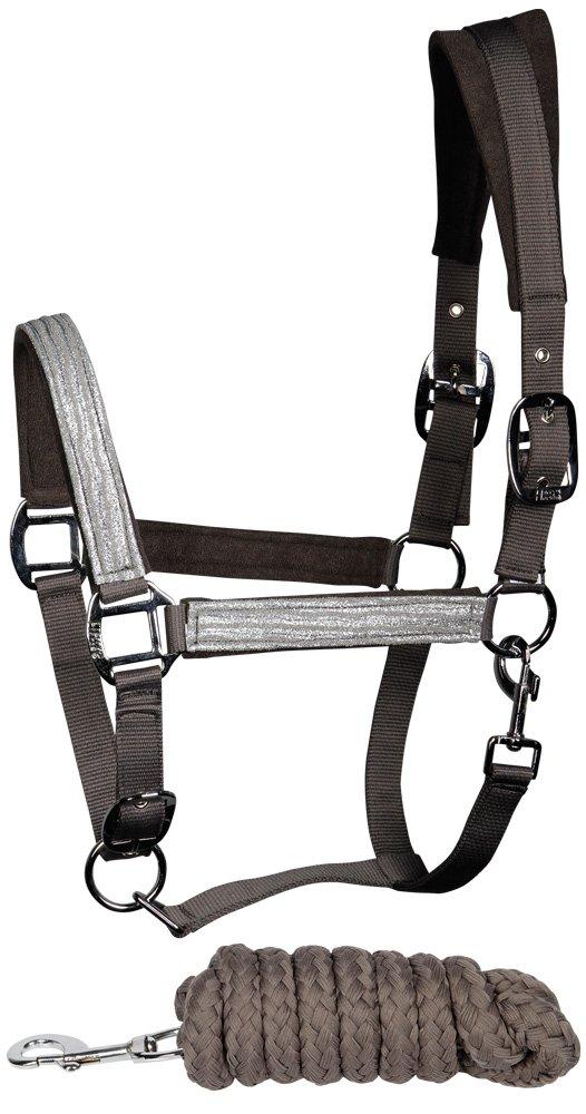 Harrys Horse F/ührstrick Anbindestrick Soft geflochten Karabinerh 1,8m