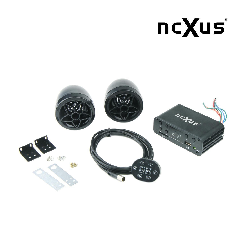 Update von A-500 Kabelfernbedienung 12V Motorrad MP3 FLAC APE FM Player USB SD mit Aussenlautsprechern A-510 AU