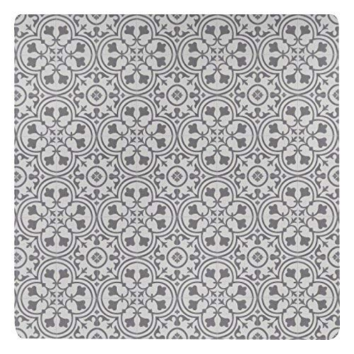 Vinyl Floor Mat, Durable, Soft and Easy to Clean, Ideal for Highchair Floor Mat, Mudroom Mat or Play Mat. Freestyle, Wrought Iron Deco Pattern (4 ft x 4 ft)