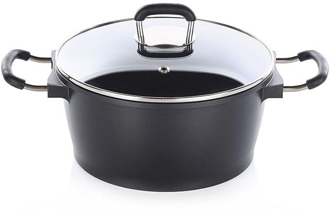 Golden Lutz Ernesto® - Olla de Aluminio Fundido, diámetro 20 cm - para Todos los Tipos de Cocina de, fundición de Aluminio, Negro, ca.