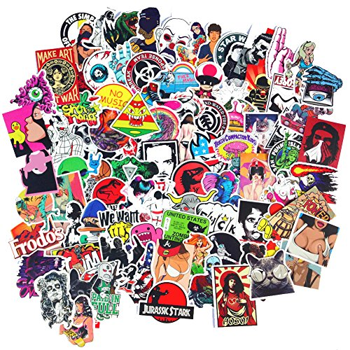 10 Sticker (DreamerGO Cool Graffiti Stickers 100 Pieces Various Car Motorcycle Bicycle Skateboard Laptop Luggage Vinyl Sticker Graffiti Laptop Luggage Decals Bumper Stickers (100 Pieces) (Style C))